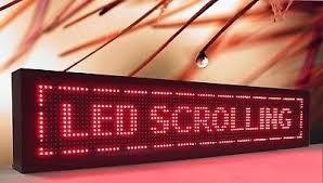 RED COLOR LED SCROLLING BOARDS IN LUDHIANA