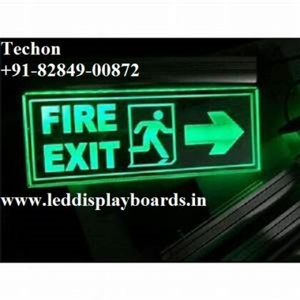 TECHON LED EXIT SIGN BOARD MANUFACTURER LUDHIANA, PUNJAB